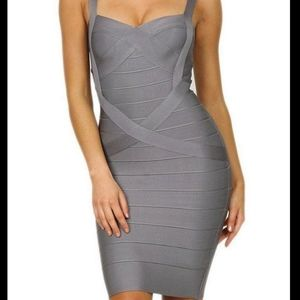 H&M Silver/Gray Bandage Shimmery Dress